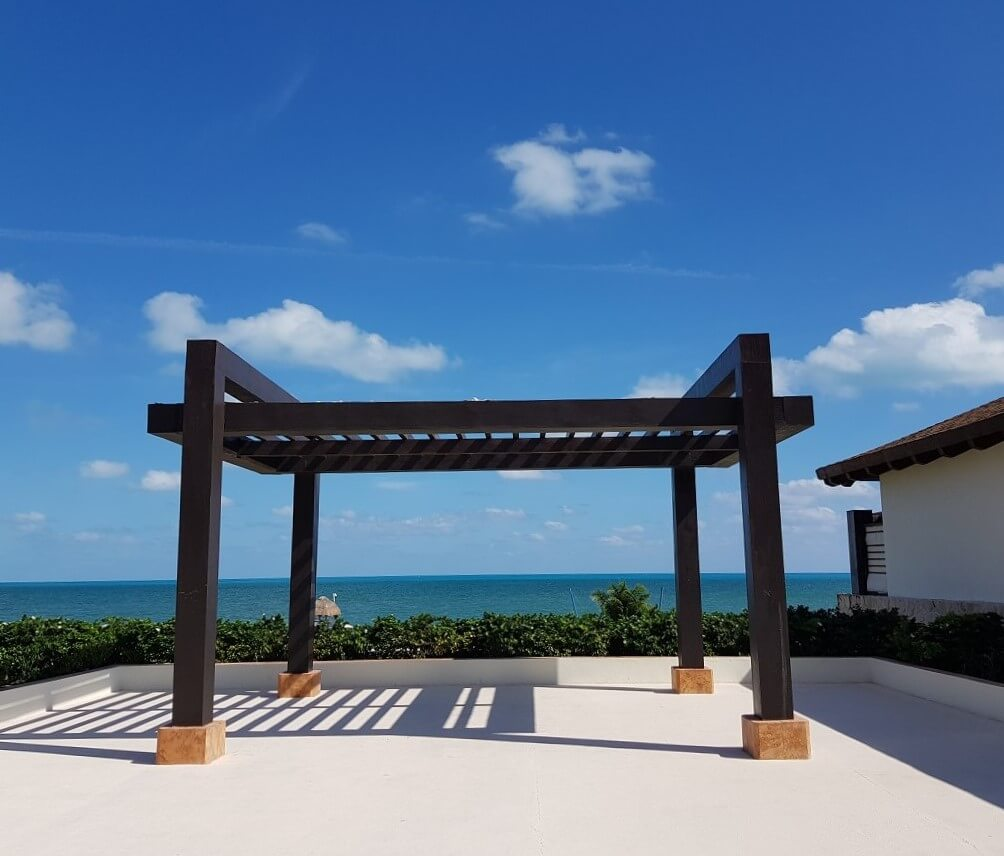 oceanfront wedding gazebo at secrets playa mujeres