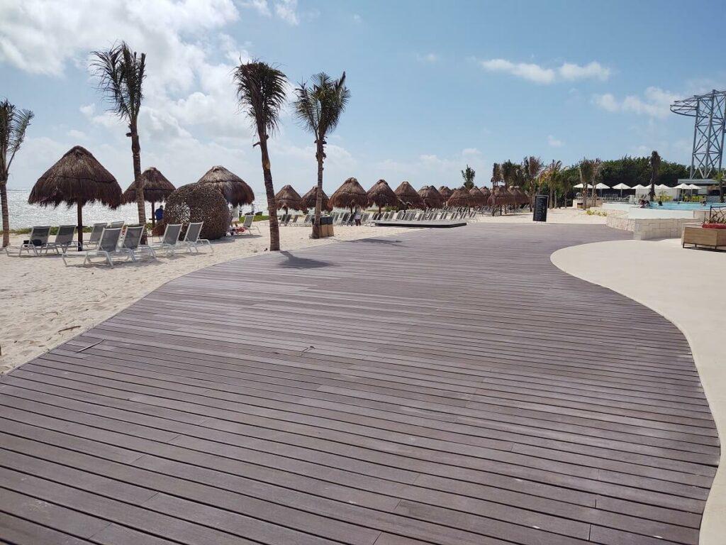 Dreams Natura weddings beach deck platform location