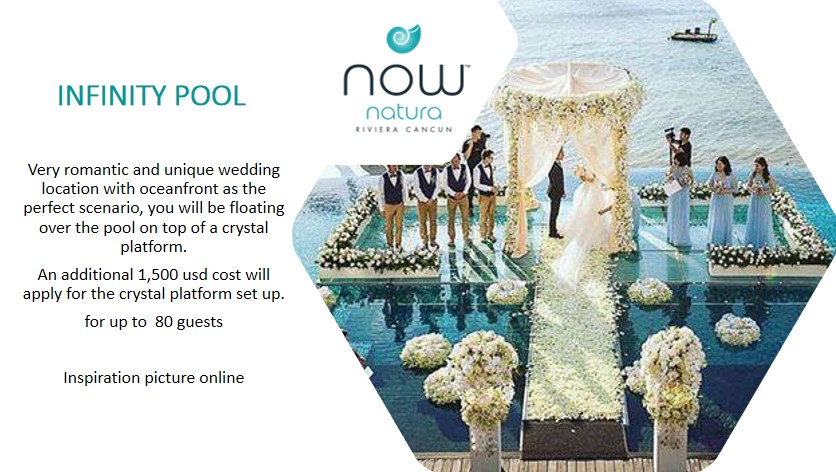 Infinity Pool Over the Water Wedding Ceremony