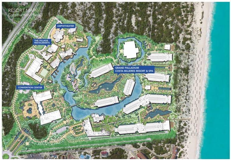 resort map Palladium Costa Mujeres