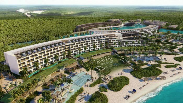 aerial view of the Paradisus Playa Mujeres