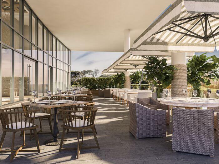 italian restaurant terrace area at paradisus