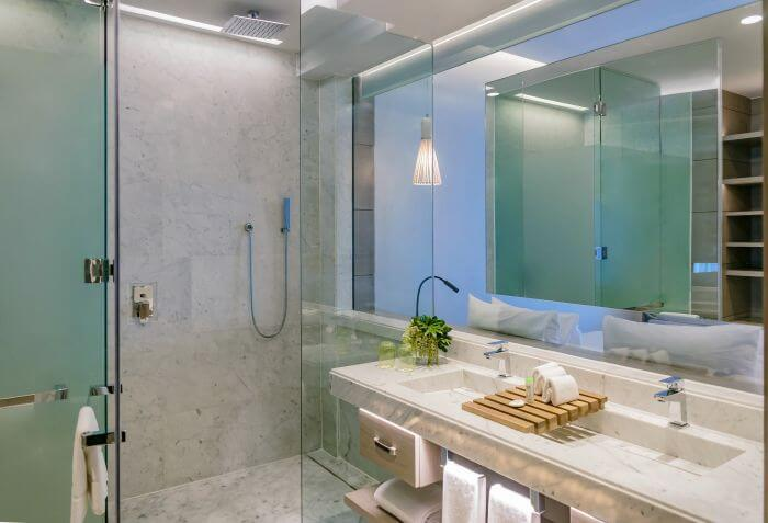 bathroom area of the junior suite Paradisus Playa Mujeres