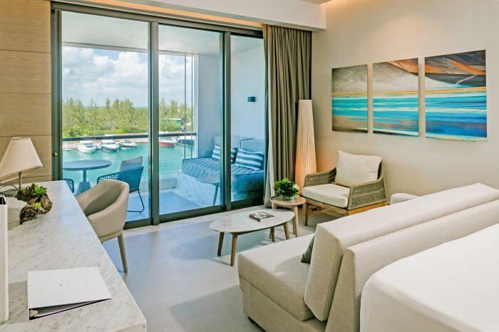 marina view from the Paradisus Playa Mujeres junior suite