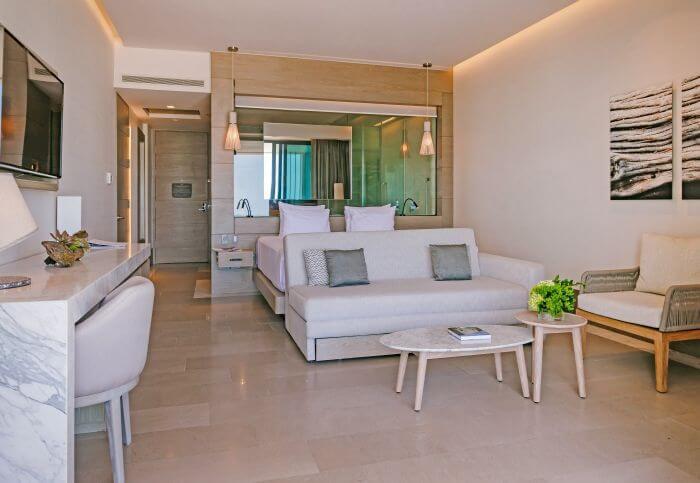 interior of the junior suite at Paradisus Playa Mujeres