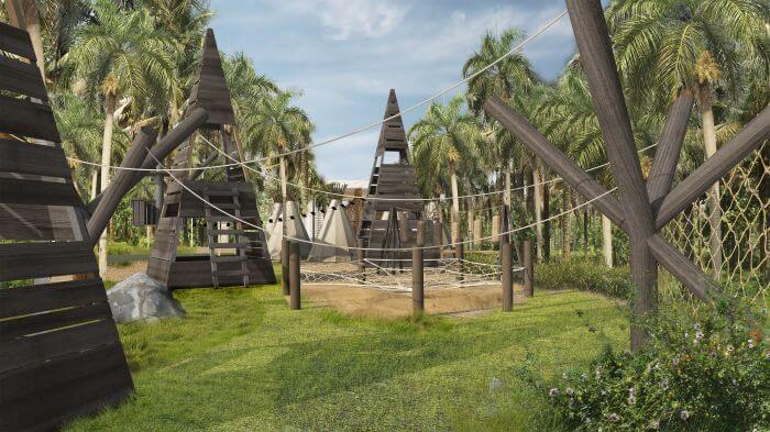 kids club outdoor park area at paradisus