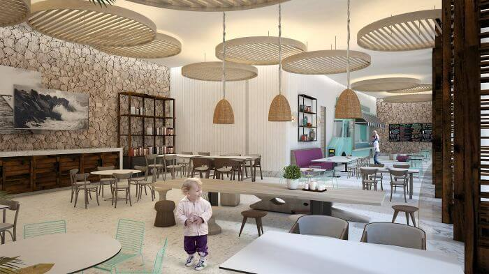 kids club restaurant at the new paradisus in mexico