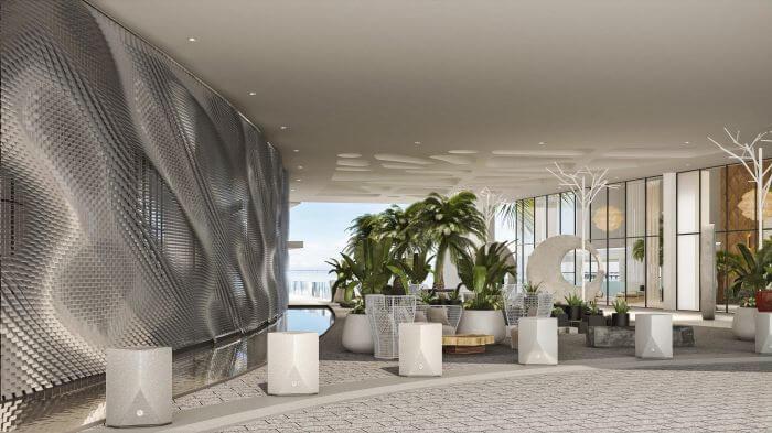 lobby area of the new Paradisus Playa Mujeres