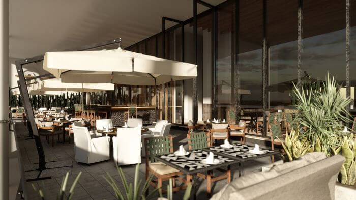mexican restaurant render for the new paradisus hotel
