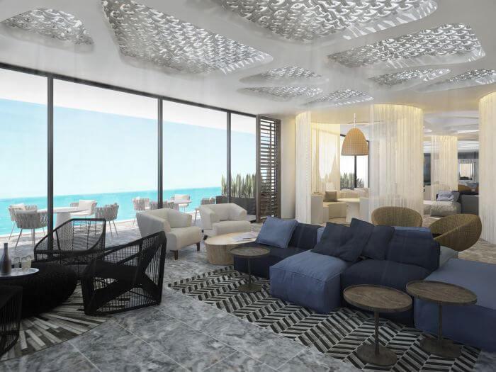 sky lounge lobby area at the new Paradisus Playa Mujeres