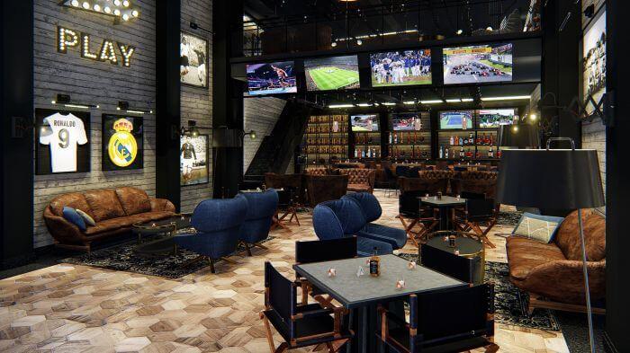 sports bar interior at the Paradisus Playa Mujeres