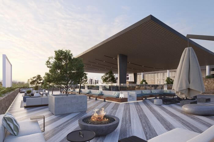 terrace area with firepits, Paradisus Playa Mujeres