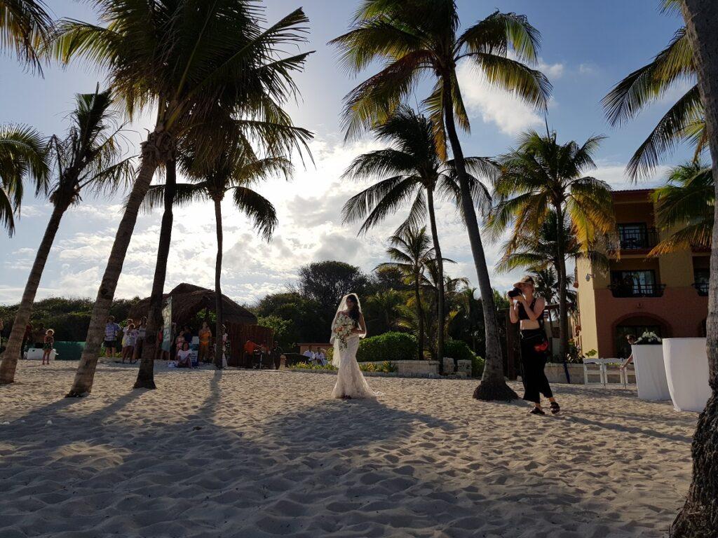 real sandos wedding bride at the beach