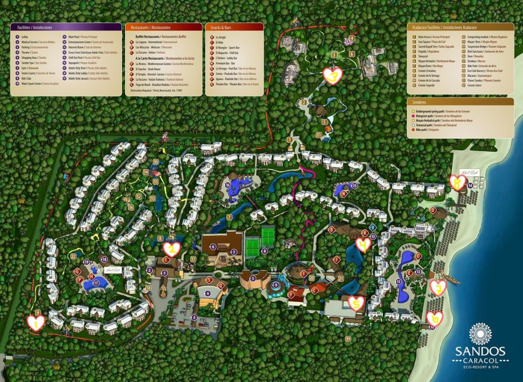 sandos caracol wedding venue map