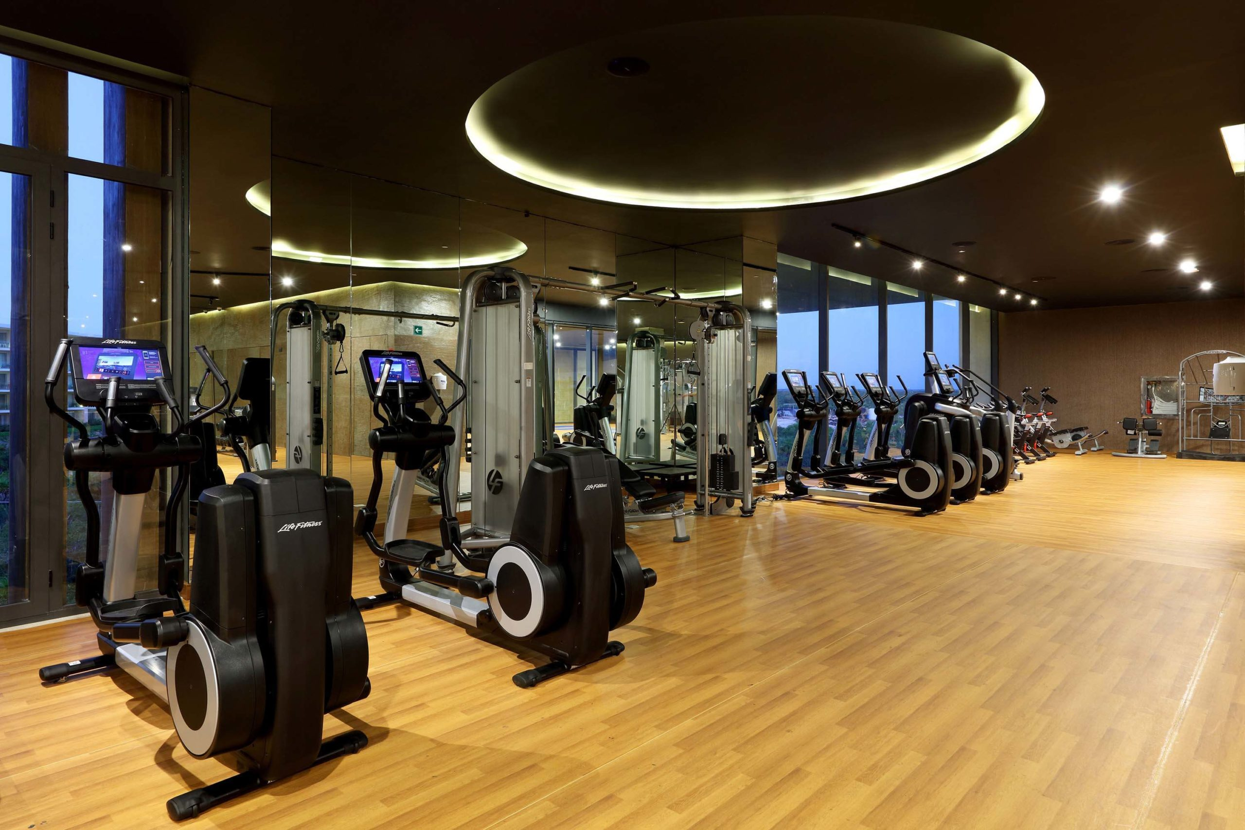 fitness center at the trs coral hotel