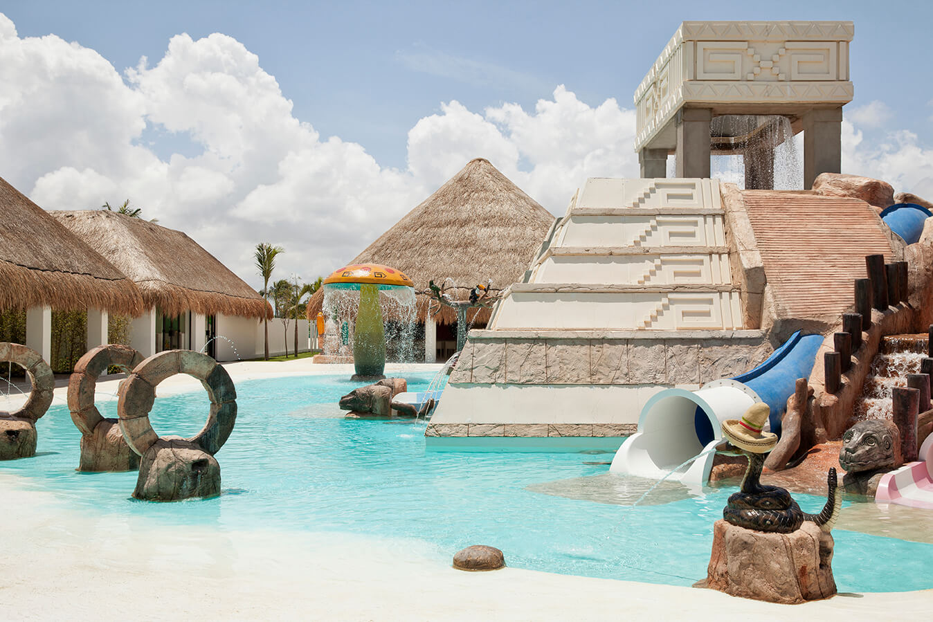 kids splash park with pyramid at Finest Playa Mujeres
