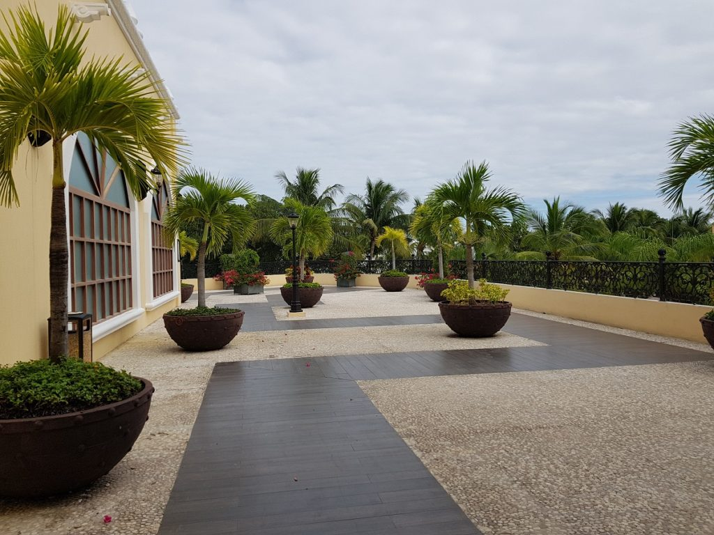 area for cocktail party, the lobby terrace at sandos playacar