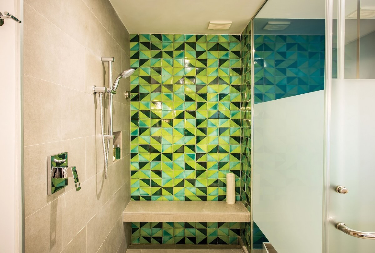 shower area for all junior suites at Now Natura