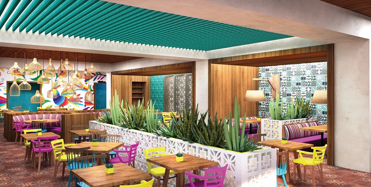colorful mexican restaurant at Now Natura