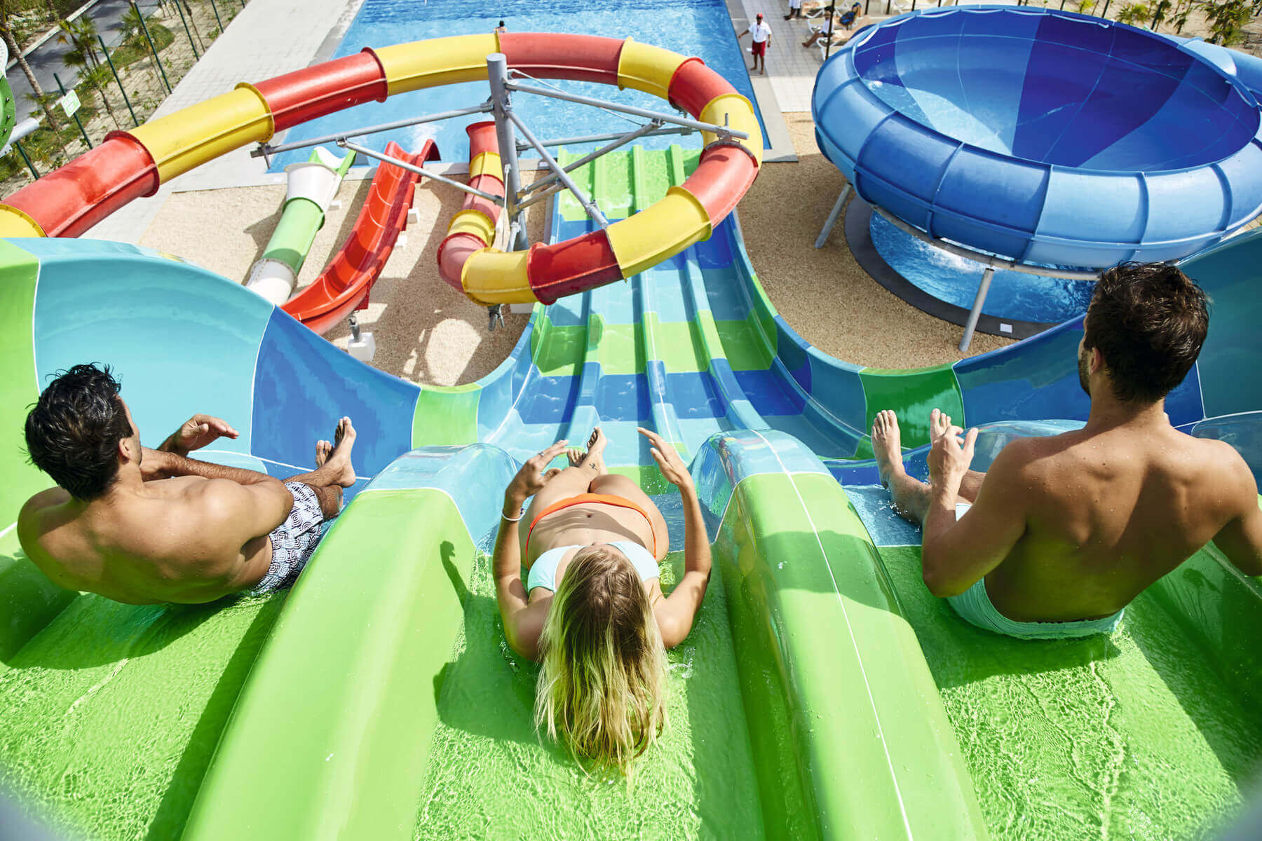 waterslide park at the riu dunamar