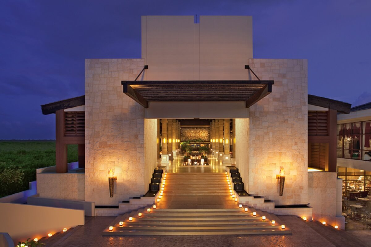 Lobby Stairs used for ceremonies at dreams riviera cancun