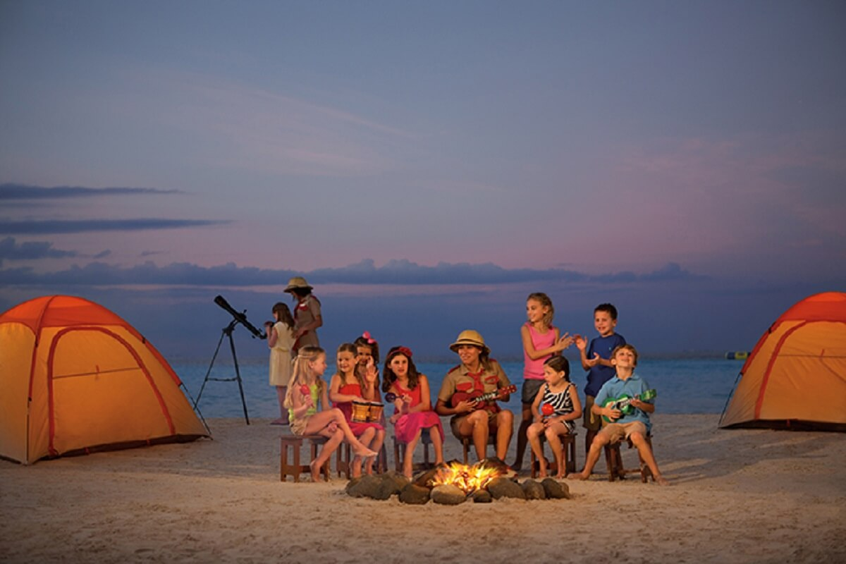 Explorer's Club Campout on the beach