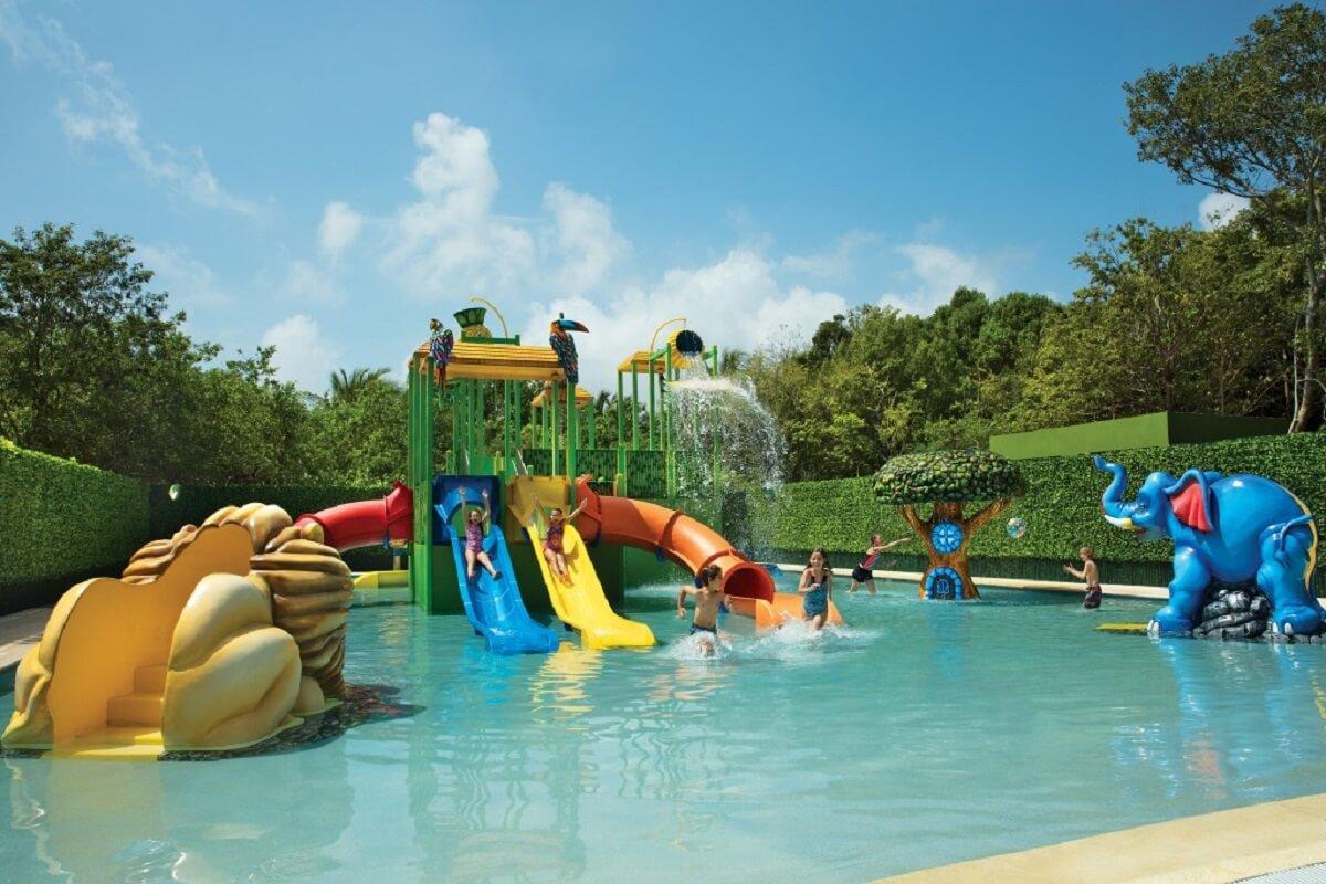 mini water park & slides at the kids club