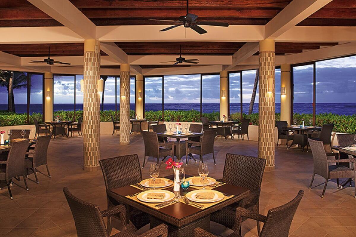 Ocean view restaurant at dreams tulum