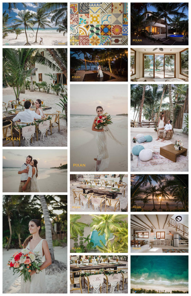 collage of images taken at Zorba tulum