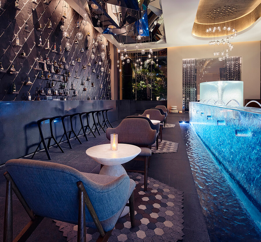 illuminated indoor bar area hotel xcaret