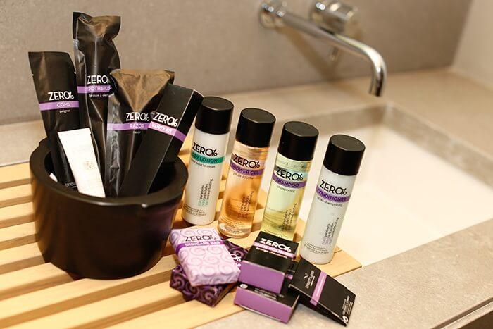 sample bathroom amenities at breathless los cabos