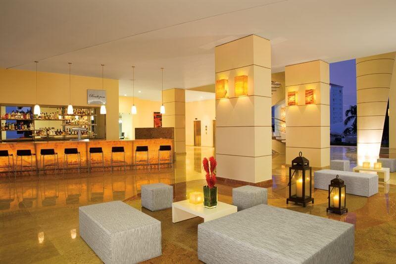 hotel lobby area with a lobby bar