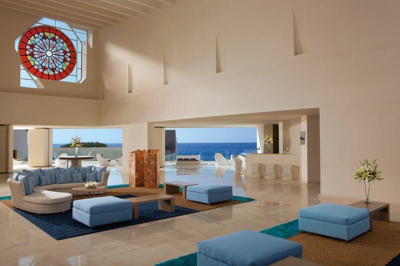 lobby area with ocean views secrets huatulco