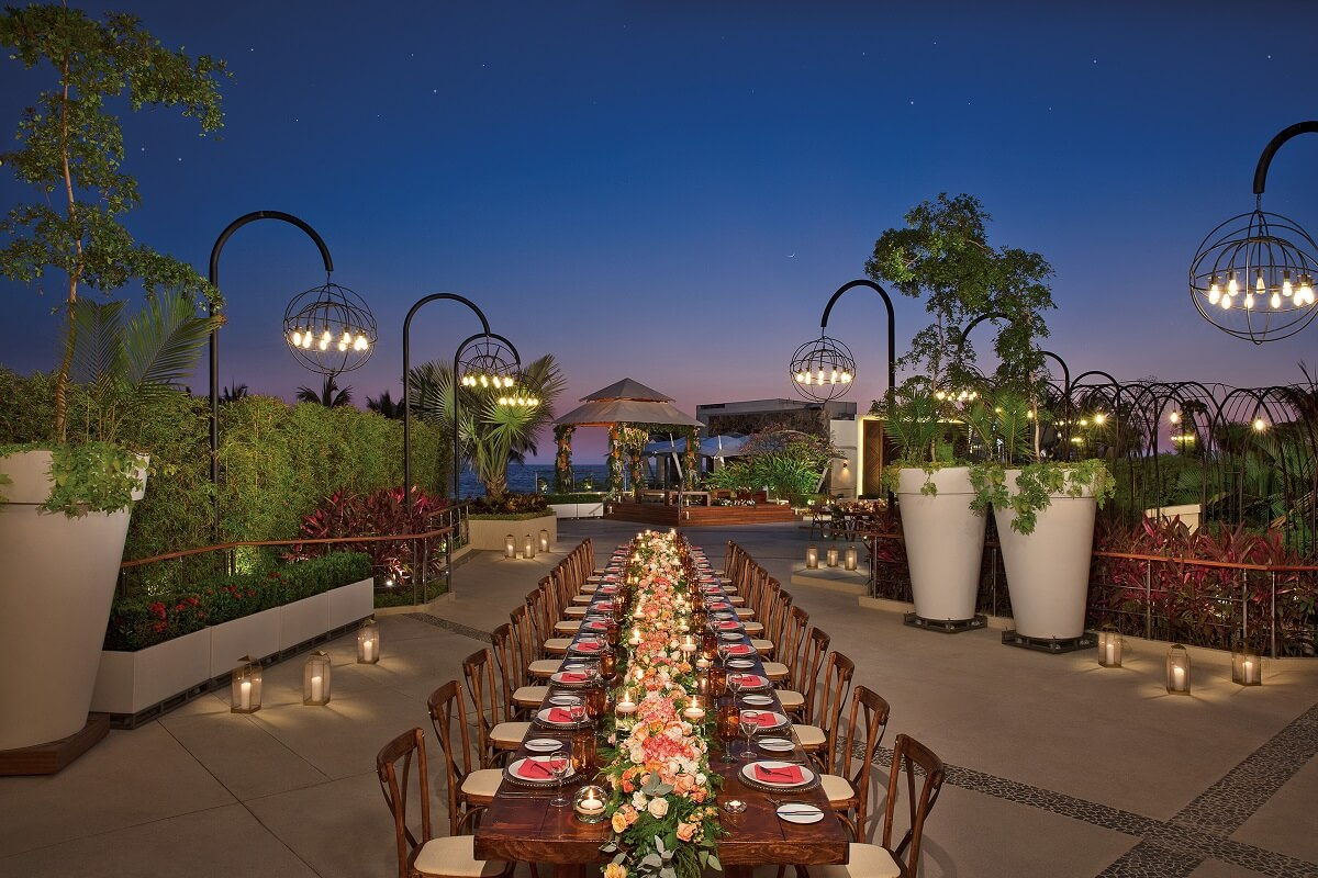 terrace area for an outdoor now amber wedding
