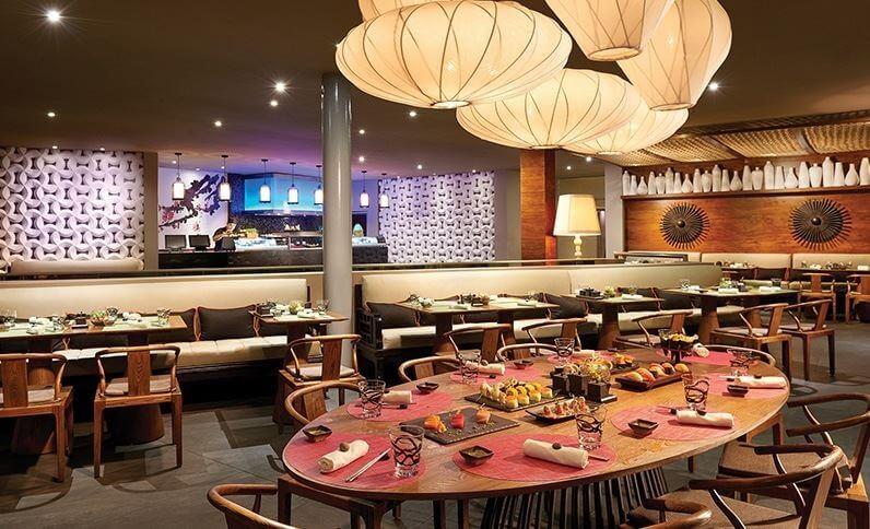 sushi bar restaurant the fives beach hotel