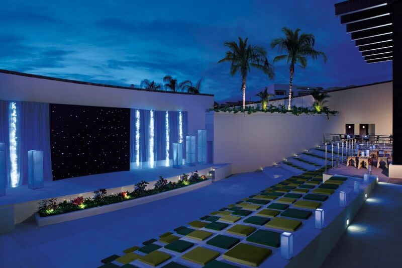 outdoor theater area at now amber hotel