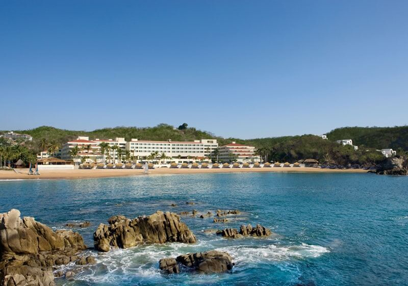 view of the dreams huatulco from the water