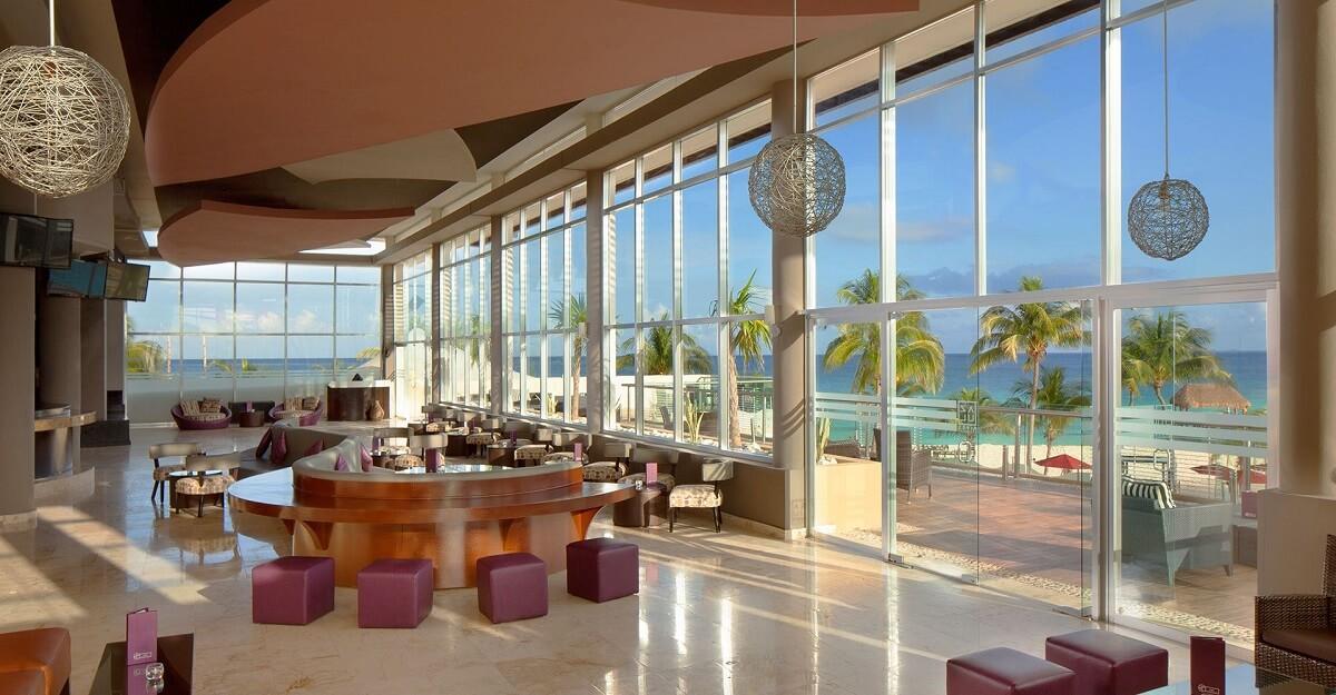 sky bar interior with ocean views the fives beach