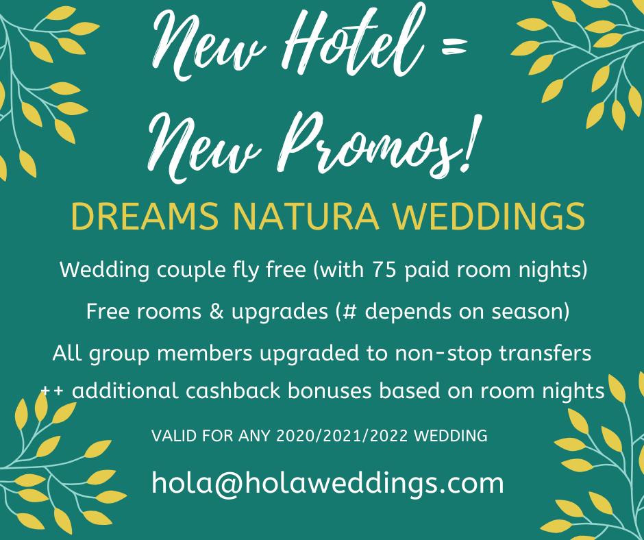 dreams natura wedding promotions