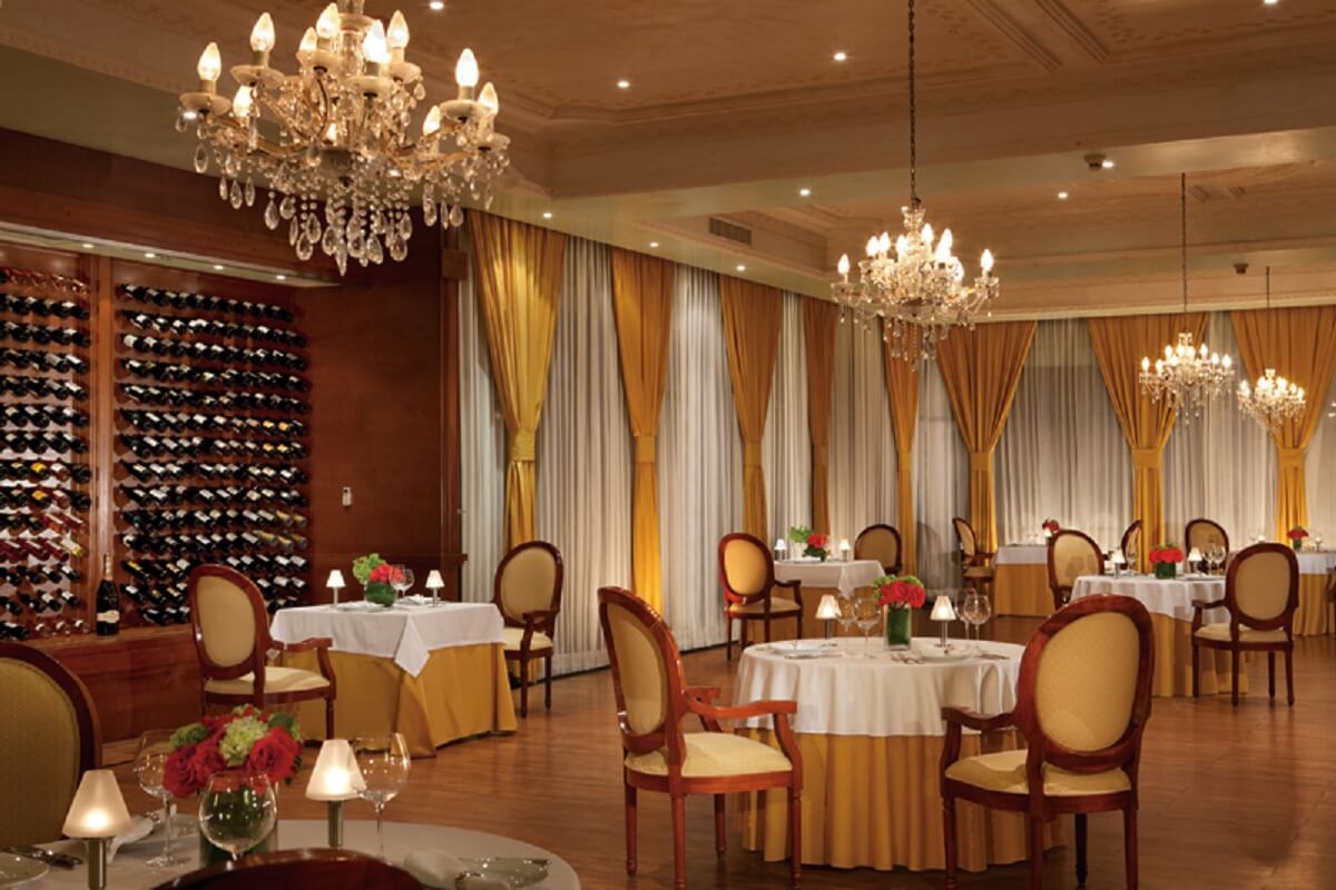 Elegant french cuisine restaurant