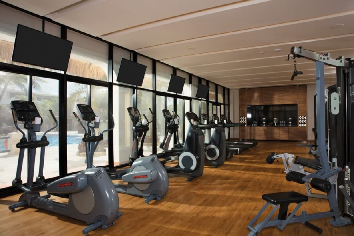 Gym at the now sapphire