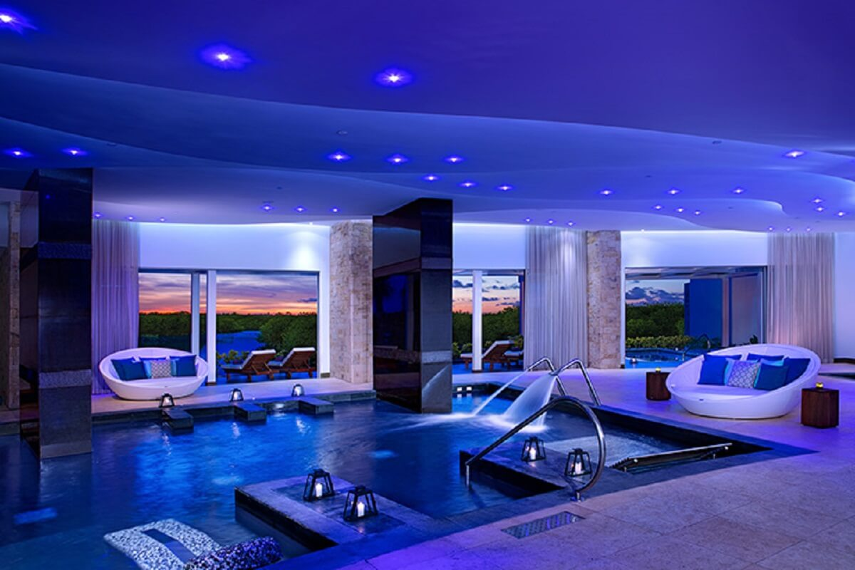 Hydrotherapy circuit at the spa