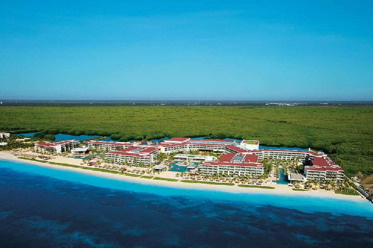 Breathless Riviera Cancun aerial overview
