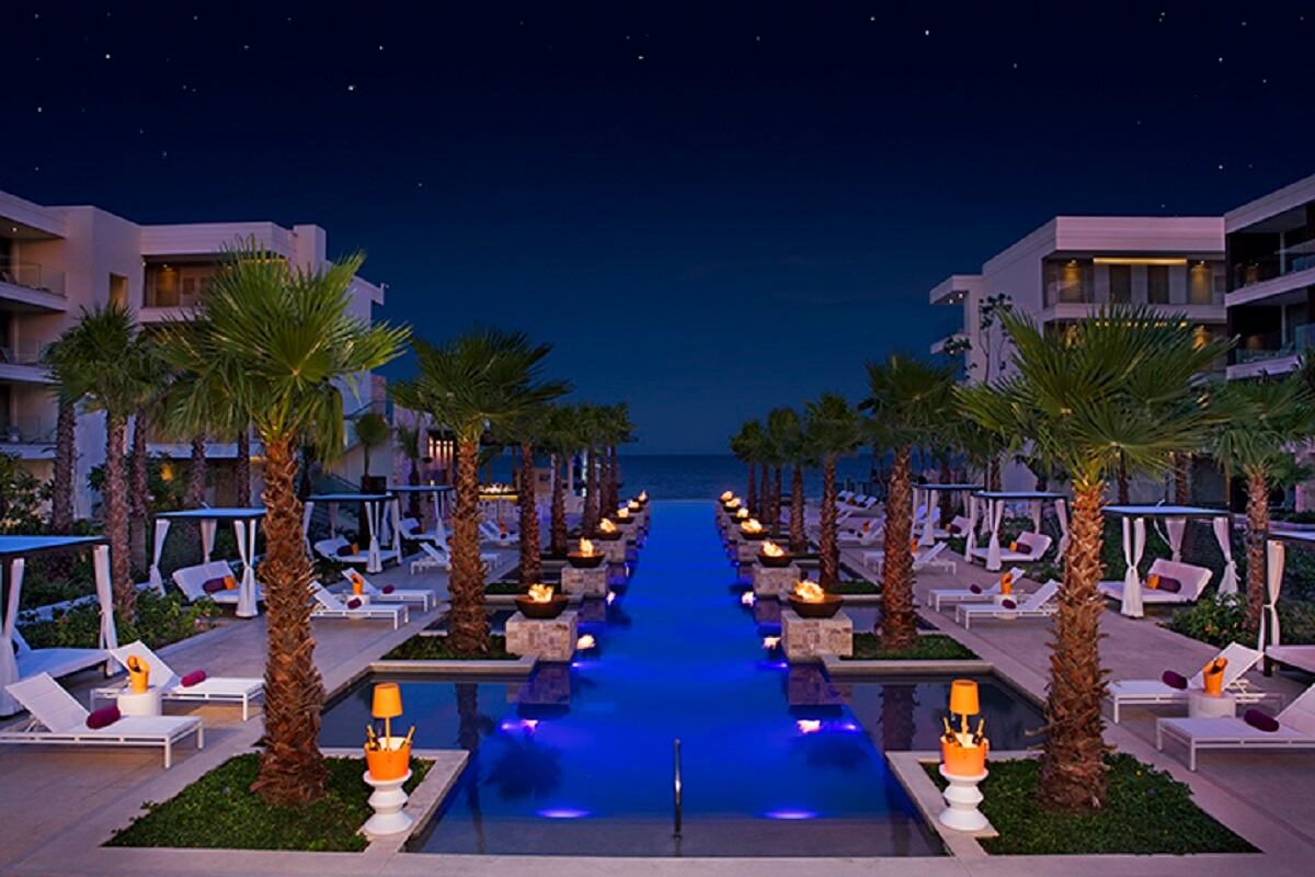 Night time breathless main pool