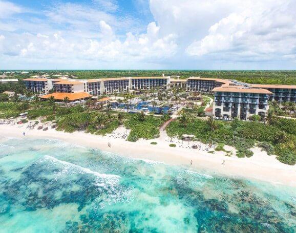 aerial view of the unico all-inclusive honeymoon resort in riviera maya