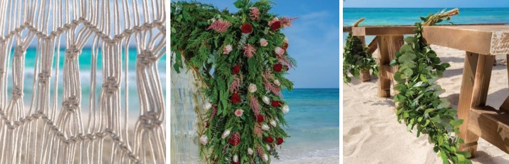 unico weddings decor options for custom weddings include floras, greenery and drapes