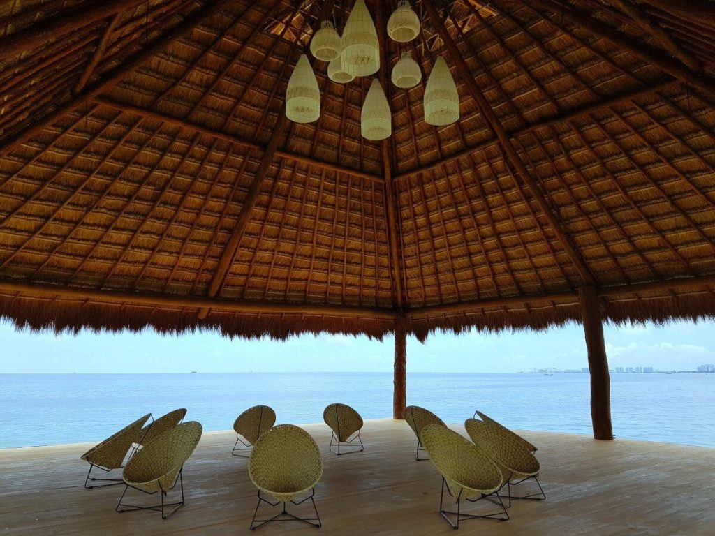 the ocean deck venue at dreams vista cancun weddings palapa