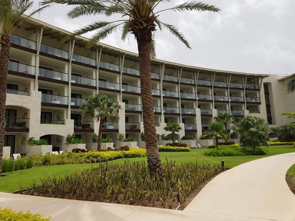 unico hotel building exterior and grounds
