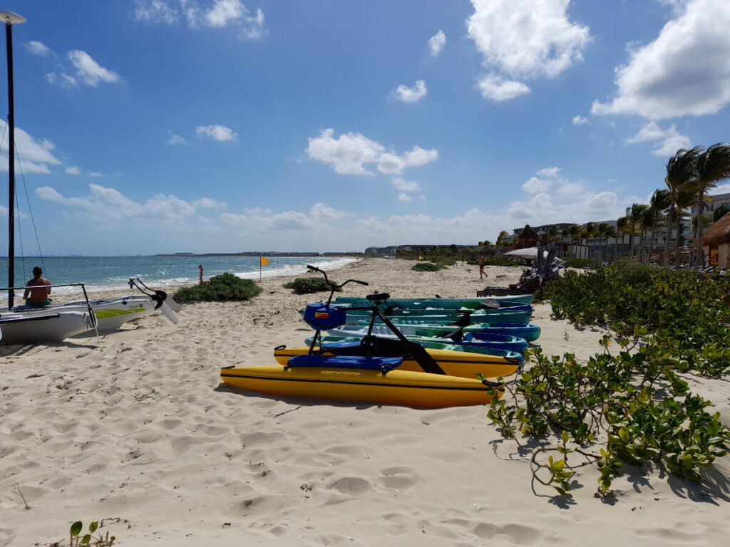 pedal water kayak and other water sports on the beach