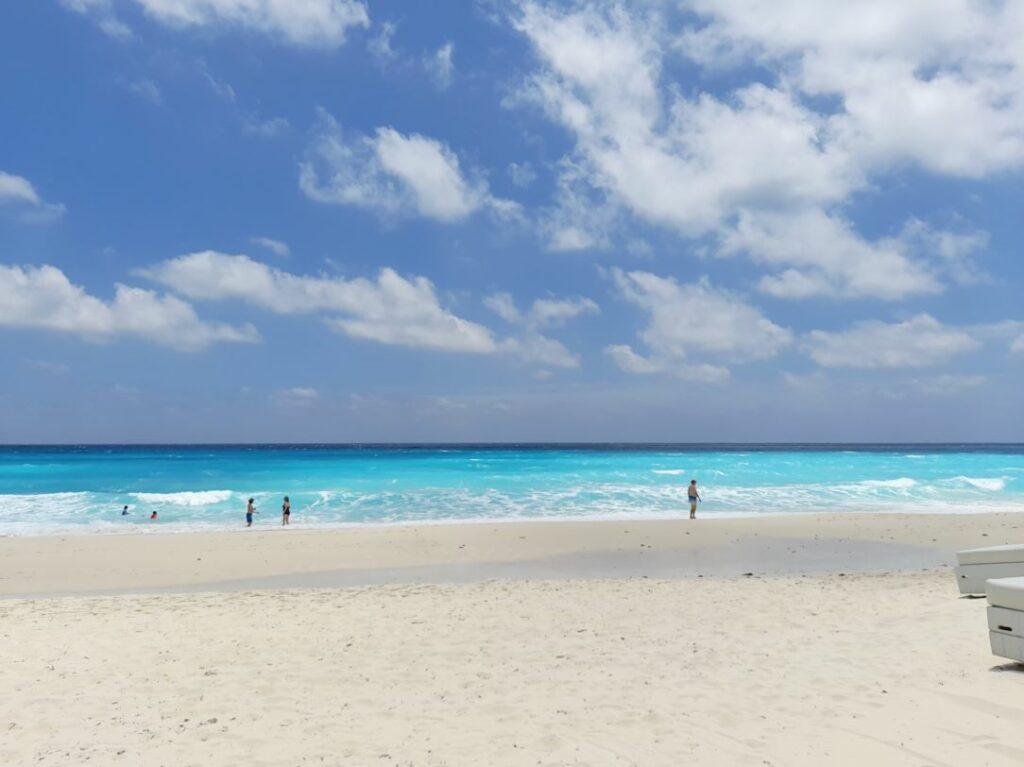 Caribbean beach with the sky